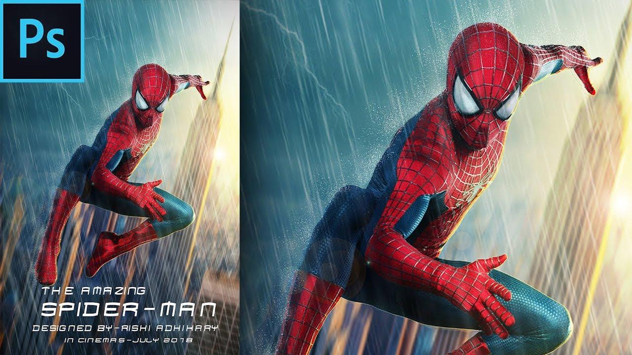 Spider Man Movie Poster Photoshop Tutorial Youtube