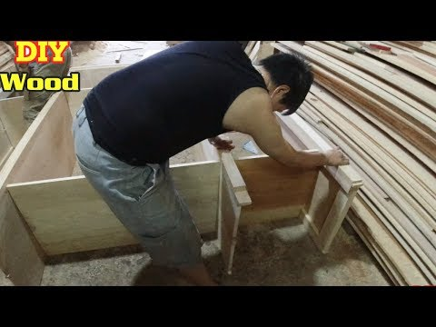 How to make simple but beautiful wardrobe | making wooden cabinets | DIY Wood