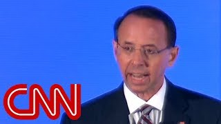 Rosenstein calls Comey a 'partisan pundit' in revealing speech
