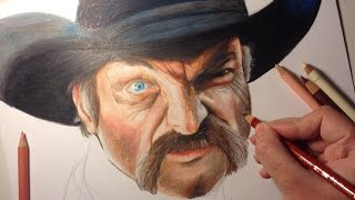 Art Challenge :Realistic Drawing with colored pencils|Mad Cowboy
