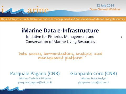 iMarine Data e-Infrastructure Initiative for Fisheries Mgmt & Conservation of Marine Resources