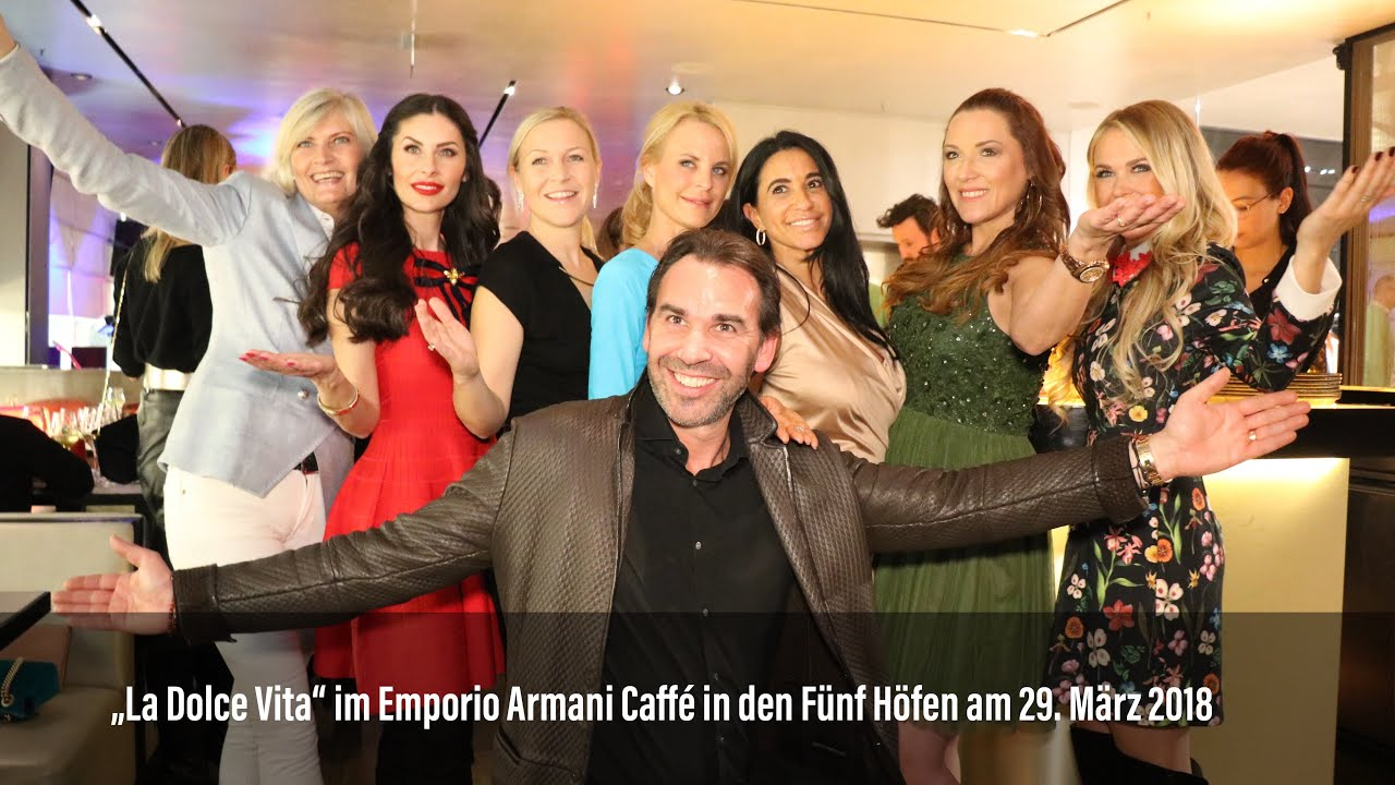 """Kurz vor Ostern: """"La Dolce Vita"""" im Emporio Armani Caffé München in ..."""