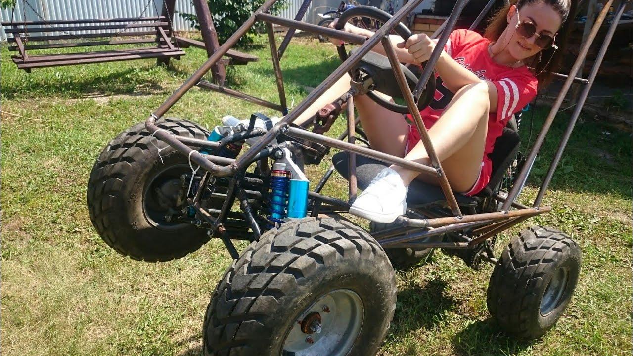 Mini baggi ATV. Первый выезд. Своими руками.