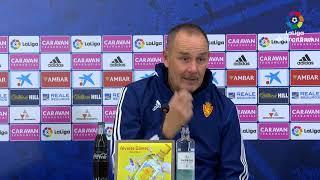Rueda de prensa de  Víctor Fernández tras el Real Zaragoza vs CD Numancia (1-0)