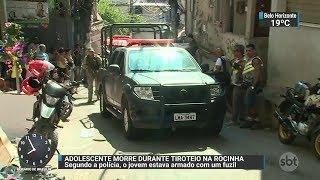 Adolescente de 15 anos morre durante tiroteio na Rocinha | SBT Brasil (16/12/17)