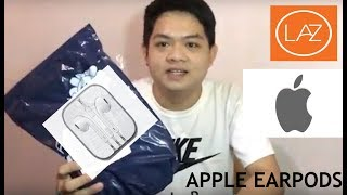 Gambar cover NEW APPLE STORE ON LAZADA / APPLE EARPODS REVIEW
