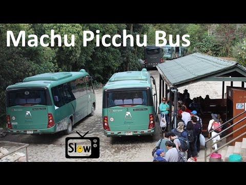 Bus from Machu Picchu to Aguas Calientes - Peru 2017 - SlowTV