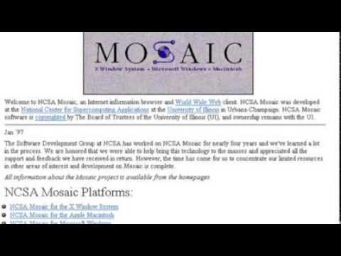 """Ch 1, Part 1 - The """"First"""" Web Browser, Mosaic"""
