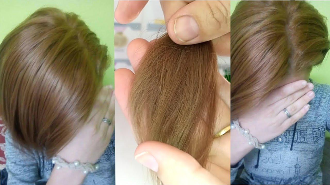 صبغي شعرك عسلي فاتح روعة لون قمة في الجمال مثل الصورة تماما💯بملونج بسيط جدا بدون ليماش أو ديكاباج