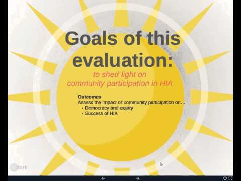 Webinar on Community Participation in Health Impact Assessments: A National Evaluation