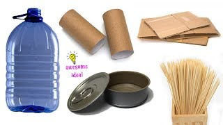 4 G0EGEOUS WAYS TO RECYCLE REUSE WASTE MATERIALS! Best Reuse Idea