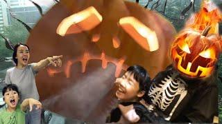 집에 유령이 있다? 커튼 속에 있는 유령의 정체는? 커튼유령 호박유령 할로윈 잭오랜턴 호박귀신 Halloween pumpkin legend of jack o' lantern