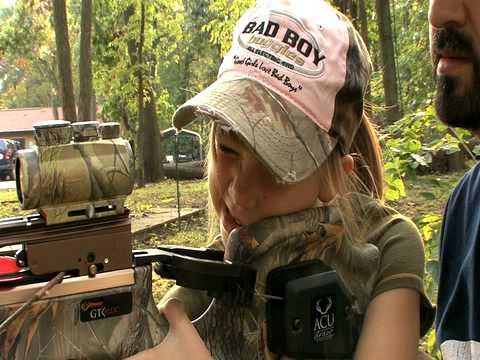 Little girl hunting amusing