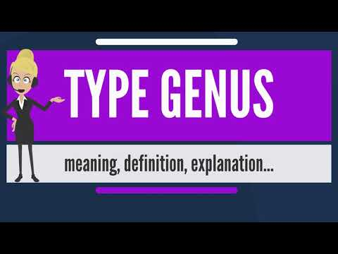 What is TYPE GENUS? What does TYPE GENUS mean? TYPE GENUS meaning, definition & explanation