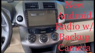 Installing New Android Radio With Backup Camera and Navigation on a '2009 Toyota RAV4'