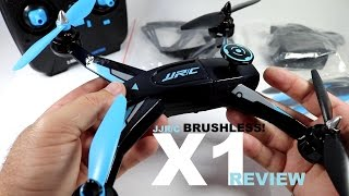 jJRC X1 Brushless Sport Quadcopter Drone Review - Part 2 - Flight/CRASH! Test