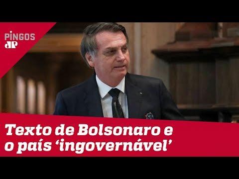 Bolsonaro e o 'Brasil ingovernável fora dos conchavos'