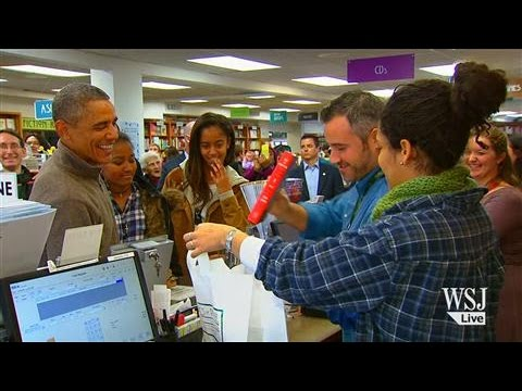 "President Obama Shops on ""Small Business Saturday"""