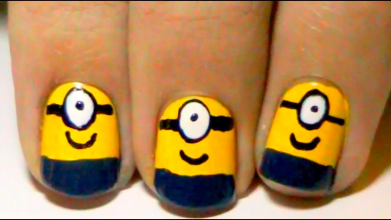 Despicable Me Minion Nail Art - YouTube