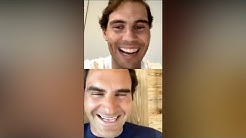 Rafael Nadal 🔷 Instagram Live with Roger Federer & Andy Murray