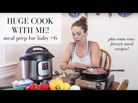 Meal Prep with me baby #6 | HEALTHY FREEZER MEALS