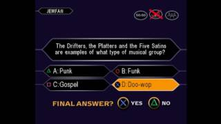 JemFan777's 1st game of Who Wants to be a Millionaire: 3rd Edition for the PS1