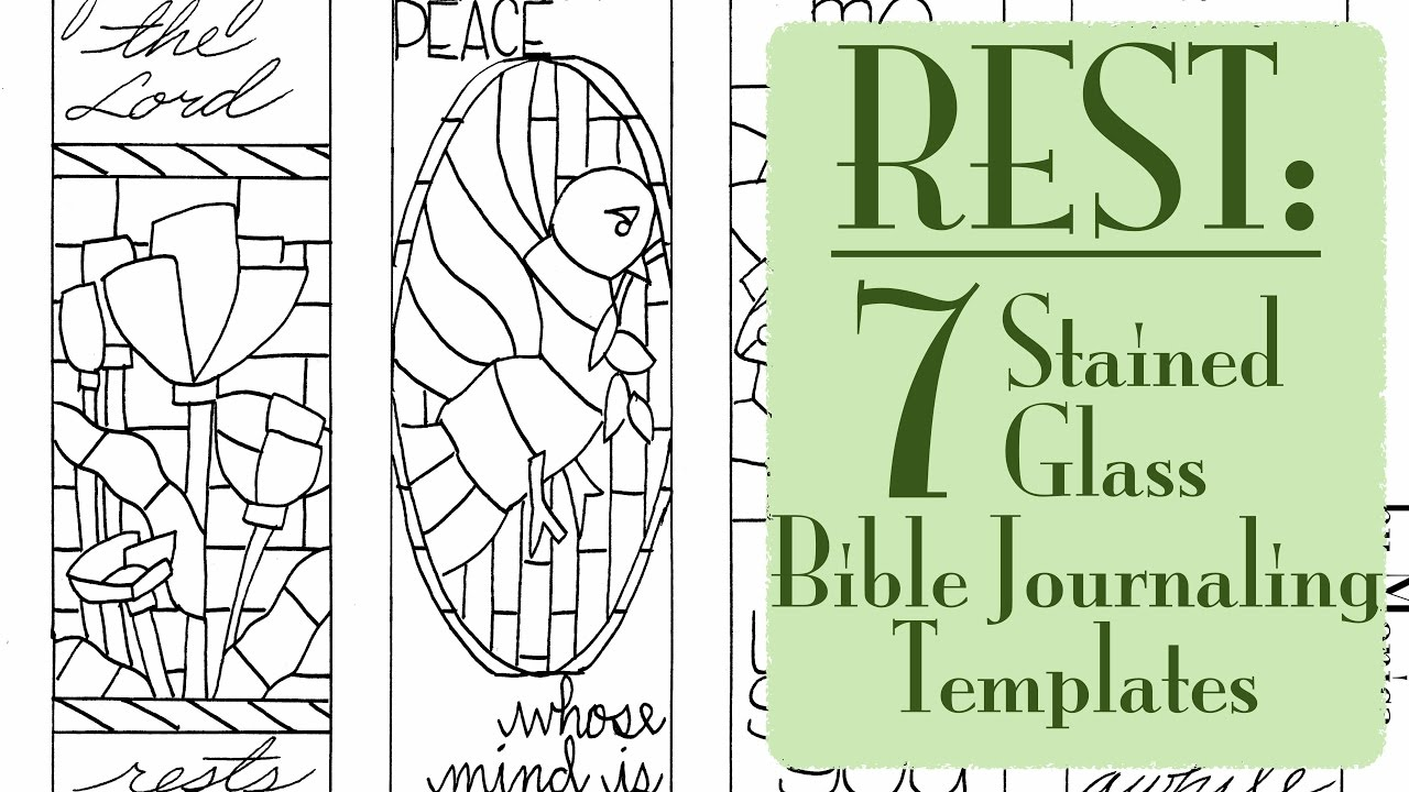 Rest Testimony Free Bible Journaling Templates
