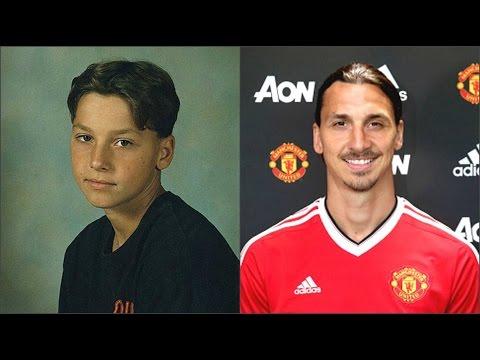Футболисты Манчестер Юнайтед в детстве и сейчас