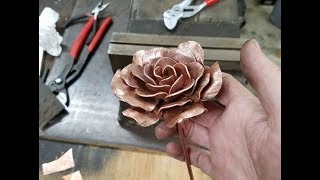 Making rose from copper pipe