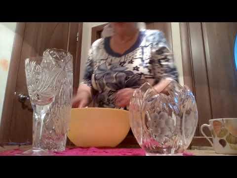 Как чистить хрустальную посуду