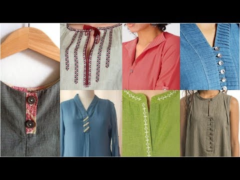 Most Populer & Demanding Fashion Of Different Style Of Neckline With Diffrent Style Of Placket