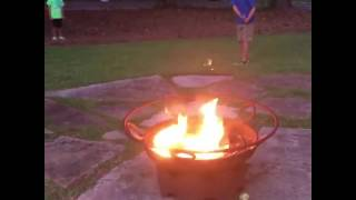 Lad lights firecrackers with flaming golf ball shot II Golf Gods