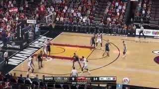 NBA 2015 - San Antonio Spurs vs Miami Heat - 1st Qrt - NBA LIVE 15 PS4 - HD