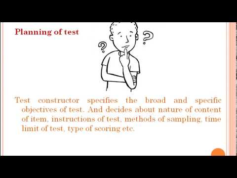 Psychometrics 2, Psychological Test And Steps Of Test Constructions