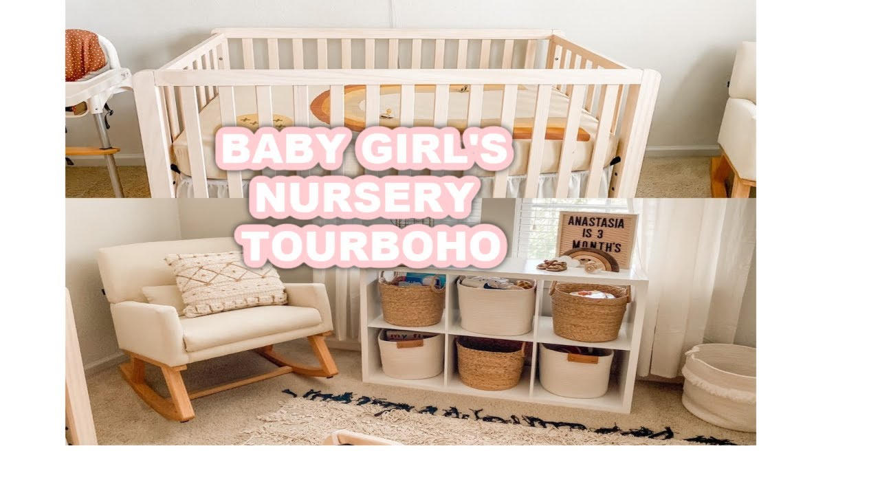 BOHO BABY GIRL NURSERY TOUR 2020 | BOHO NEUTRAL INSPIRATION - YouTube