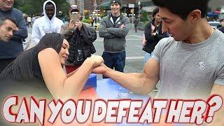 Сможешь ли ты победить ее?➤Армрестлинг ➤Armwrestling✓CAN YOU BEAT HER AT ARM WRESTLING ?