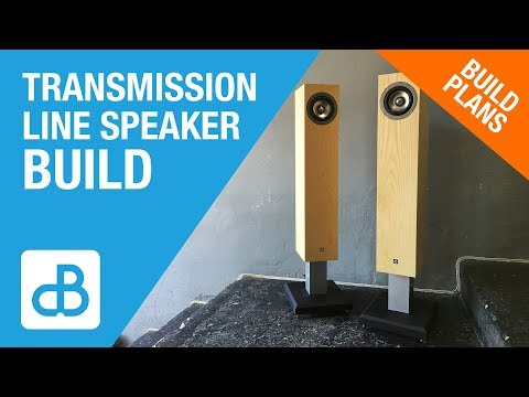 Transmission Line SPEAKER BUILD - by SoundBlab - YouTube