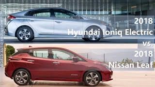 2018 Hyundai Ioniq Electric vs 2018 Nissan Leaf (technical comparison)