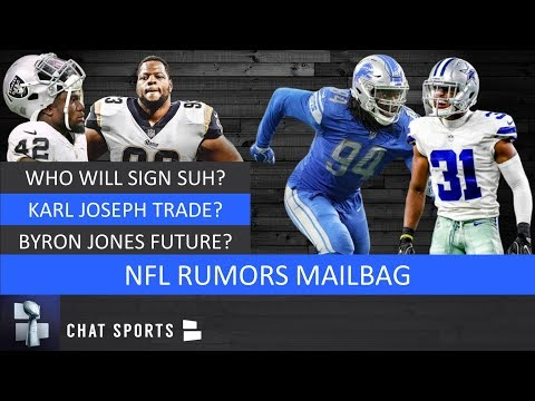NFL Rumors Mailbag: Ndamukong Suh Free Agency, Karl Joseph Trade, Byron Jones Contract & Ziggy Ansah