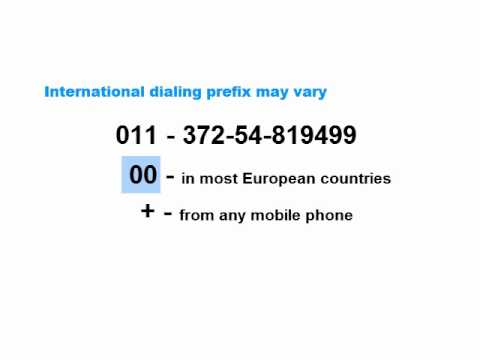 How To Call A OneSimCard Mobile Phone - Option 3 - Traditional Direct Dialing
