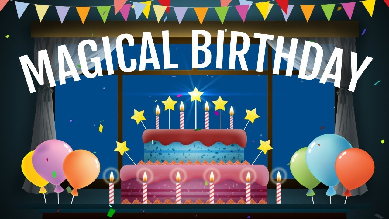 Magical Birthday Animation Video Happy Wishes Greetings E Card