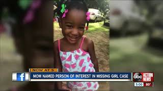 AMBER ALERT: Mom named person of interest in 5-year-old Taylor Williams's disappearance
