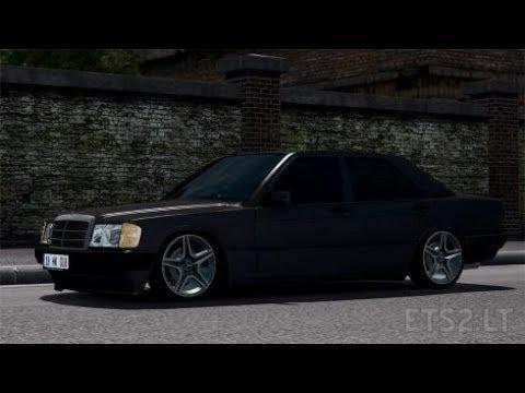Mercedes-Benz 190E + Interior v1 0 (1 28 x) » ETS2 mods, SCS