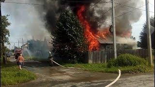 В Верхней Салде сгорел жилой дом в частном секторе, 6 июля 2018