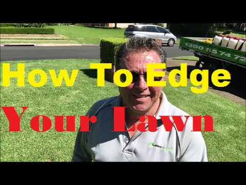 how to weed eat edges