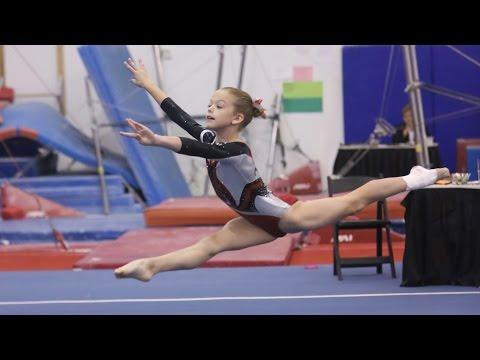 Whitney - Level 4 Gymnastics Floor Routine (9.35) Apple Classic 2013