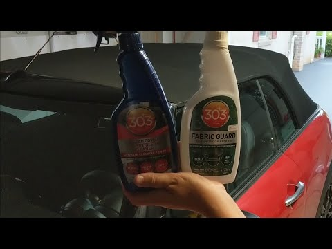 How To Clean And Protect A Convertible Top With 303 Convertible Top Cleaner And Fabric Guard!