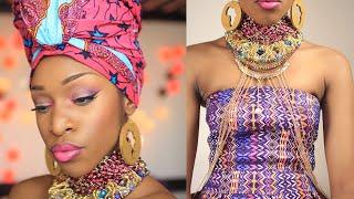 Attaché de Foulard Queen of Africa