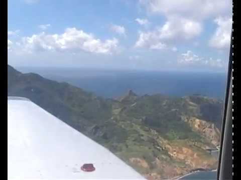 Flying Around Montserrat in a Piper PA-28 ( Montserrat )