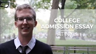 College Admission Essay at NYU